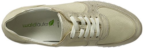 UK Waldläufer à Lacets Chaussures Hurly Desert Gold Femme w88aX4q