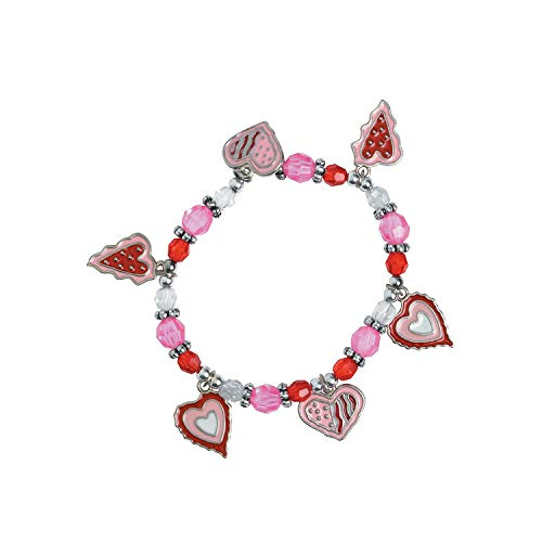 Fun Express - Valentine Heart Charm Bracelet Craft Kit for Valentine's Day - Craft Kits - Kids Jewelry Craft Kits - Kids Bracelet - Valentine's Day - 12 Pieces]()