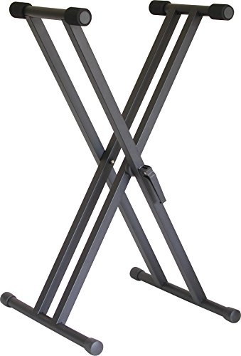 Audio2000'S AST4365 Heavy-Duty Double-Brace Keyboard Stand by Audio 2000S