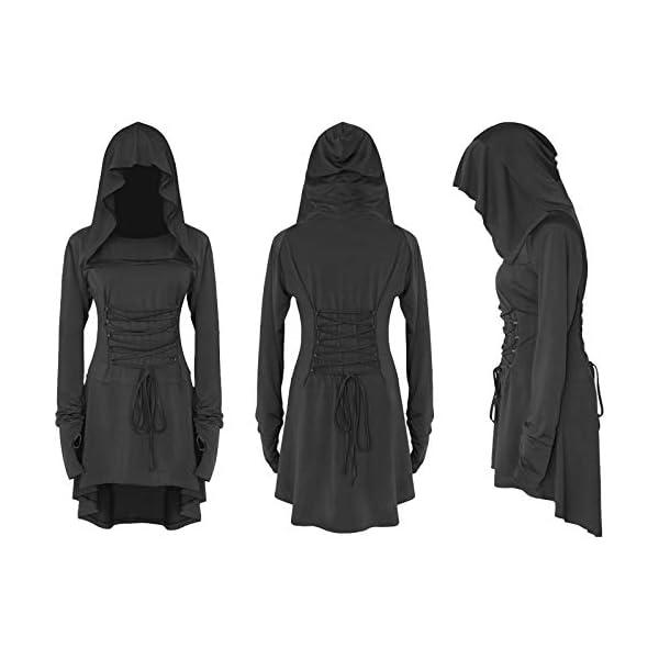 LATH.PIN Costume Donna Cosplay per Halloween Carnevale Partito Festa Medievale Vintage Vestito Asimmetrico Elastico… 4 spesavip