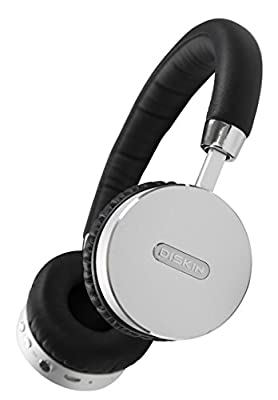 Diskin-DH3-Bluetooth-Wireless-On-Ear-Stereo-Headphones-with-Microphone-and-Volume-Control---Black---Silver