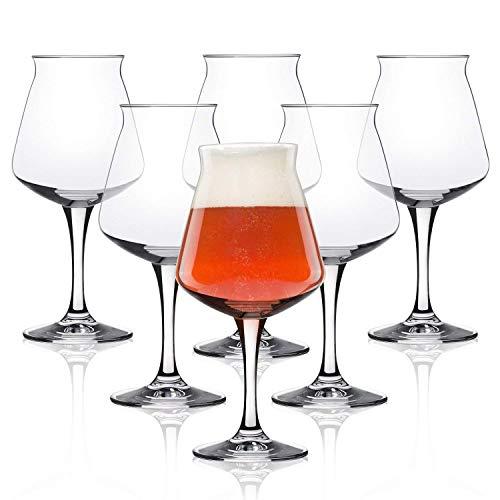 Teku 3.0 Craft Beer Tasting Glasses by Rastal – 14.2oz, Set of 6, Clear