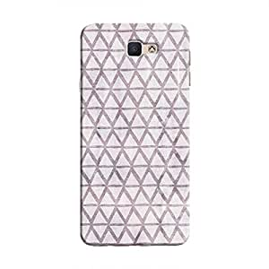Cover It Up - Triangle Print Purple Galaxy J5 Prime Hard Case