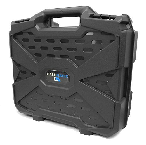 WORKFORCE Safe n Secure Video Projector Hard Case with Dense Internal Customizable Foam, Carrying Handle and Lockable Design