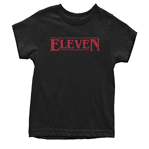 Expression Tees Youth Eleven T-Shirt Large Black