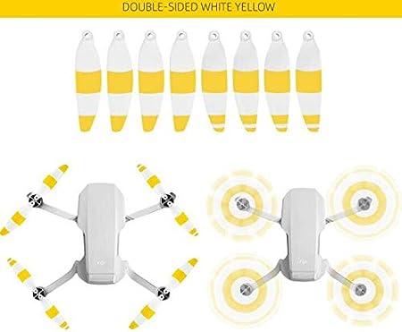 Honbobo Colorful Propeller for DJI Mavic Mini,Low Noise 4726F Propeller Black Gold