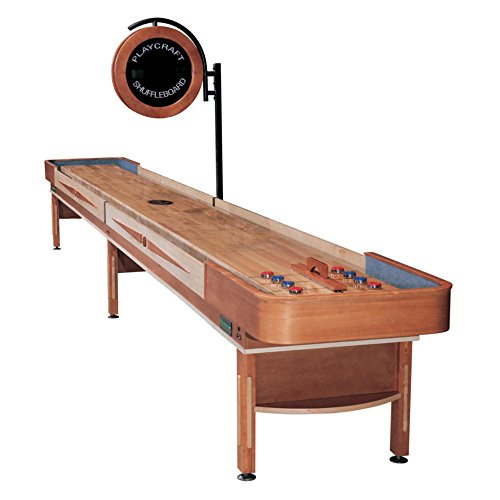 Playcraft Telluride Pro-Style Shuffleboard Table with Electronic Scorer from Playcraft
