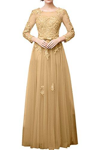 A Abendkleid Linie Partykleid Ivydressing Tuell Lang Festkleid Promkleid Damen Elegant Spitze Champagner Aermel 0wxY1gxP