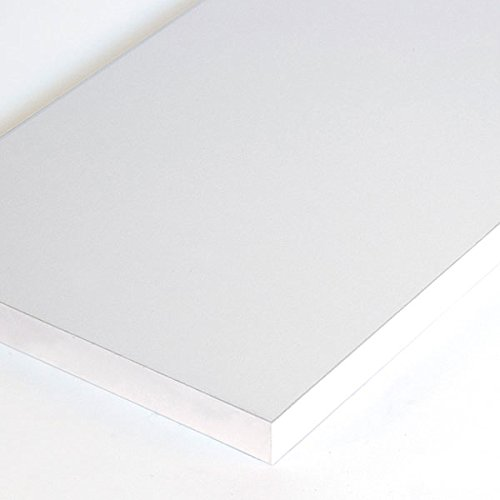 New Retails White Melamine Shelf Measures 3/4''-thick 8'' x 24'' by Melamine Shelf