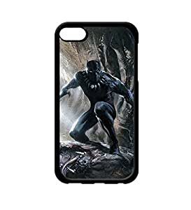 CooJedy Ipod Touch 6th - Marvel DC Comics Black Panther Hard Funda Case Cover for Apple Ipod Touch 6th Generation Protective Back Funda Case for Men