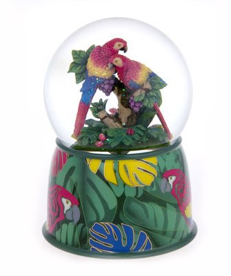 【送料0円】 A Snowglobe Precious Waterglobe Parrot with Couple Hugging Snowglobe/ Waterglobe with 18 Note Movement B00BUFGUEO, BB-FACTORY:b5fa8f33 --- arcego.dominiotemporario.com