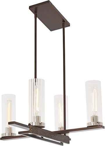 Minka Lavery Chandelier Pendant Lighting 4607-101 Maddox Roe Dining Room Fixture, 4-Light 240 Watts, Iron -