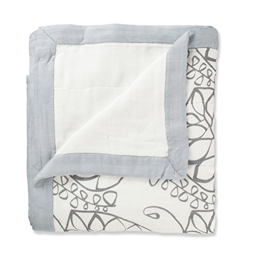 Amazon Lightning Deal 75% claimed: aden + anais rayon from bamboo dream blanket moonlight leafy