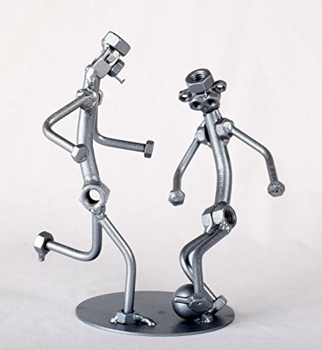 Soccer Players - MetalDiorama Metal Art Sculpture by MetalDiorama & WoodArt
