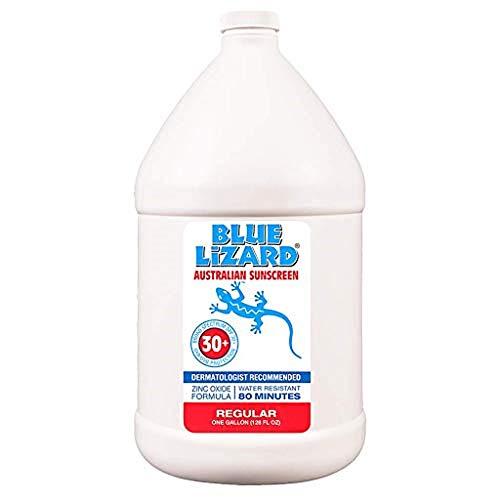 Blue Lizard Regular Mineral-Based Sunscreen Original Australian Formula SPF 30 UVA UVB Protection, Gallon