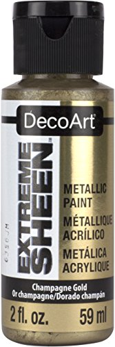 DecoArt DPM02-30 Extreme Sheen 2 Oz Paint, Champagne Gold Extreme Sheen Paint (Metallic Finish Sheen)