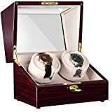 CHIYODA Double Automatic Watch Winder with 2 Independent Quiet Mabuchi Motor & 12