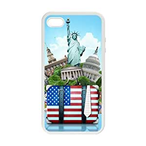 TYH - Pink Ladoo? American Flag Statue Case for iPhone 5 5s case cover phone case