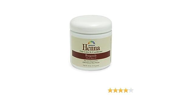 cc953050de9a7 Health Life Rainbow Research Henna Hair Color and Conditioner, Persian  Burgundy Dark Auburn, 4 Ounce: Amazon.ca: Health & Personal Care