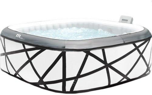 Mini piscina Minipiscina autogonfiable Blanca Cuadrada 185 x 185 ...