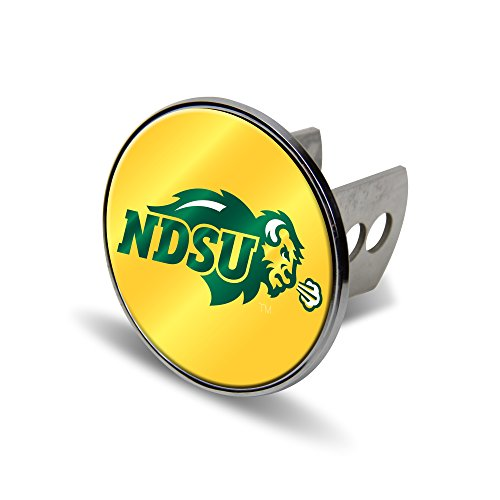 NCAA North Dakota State Bison Laser Cut Metal Hitch Cover, Large, Silver