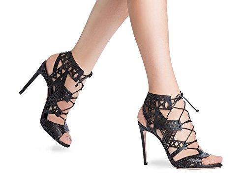 Tacón alto de noche negro Casadei zapatos sandalias - Número de modelo: 1L330D100.VITT000 negro