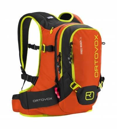 Ortovox Lawinenrucksack Free Rider, Crazy Orange, 55 x 27 x 20 cm, 26 L, 4674200007