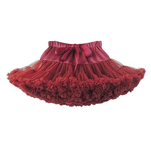 Femme Jupe Danse Courte Jupe De Mini Tulle Vin Tutu Ballet Jupe En rouge Tulle Courte RwqIH1E