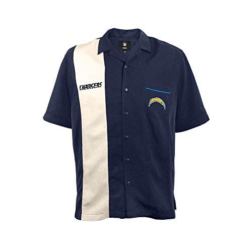 NFL San Diego Chargers  Strike Men's Bowling Shirt, Plus, ()