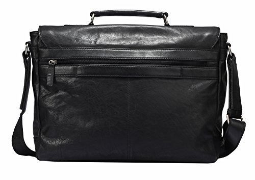 Greenburry Oily Tumbled Messenger Bag Aktentasche Leder 40 cm Laptopfach