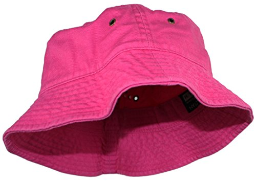 Ted and Jack Beachside Solid Cotton Bucket Hat in Hot Pink Size L/XL]()