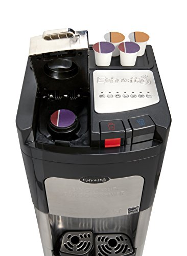 Viva Coffee Maker & Water Cooler, K-Cup Compatible, a True Stainless Steel Water Dispenser with ...