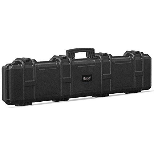 Merdia All Weather Precision Hard Rifle Case Waterproof Ultra Protective Case with Precut Intensive Foam Gun Case 47.24