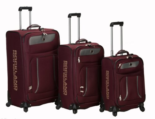 Rockland Luggage Navigator Spinner Polo Equipment 3 Piece...