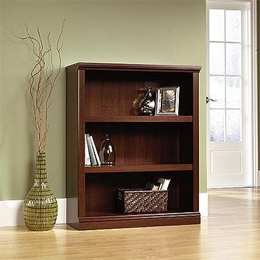 - Sauder  Sauder Select 3-Shelf Bookcase, Select Cherry Finish