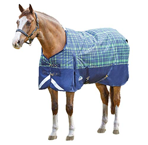 (Weatherbeeta Comfitec Plus Dynamic Standard Neck Medium, Navy/Lime Plaid, 69