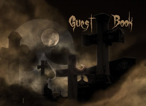 Halloween Guestbook: Scary Themed Halloween Party Guest Sign in Book, Graveyard Theme (Halloween Themed Guest Book) (Volume 7)]()