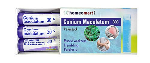 Homeopathy Conium Maculatum 30C for Muscle Weakness, trembling, Paralysis. Pack of 3, Sealed Boiron 4g Tubes