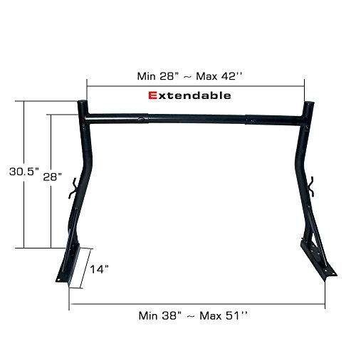 AA Products Inc. AA-Racks Model X34 Universal Truck Trailer Rack Small Pick-up Truck Rack Ladder Lumper Utility