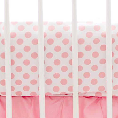 (My Baby Sam Polka Dot Crib Sheet, Coral)