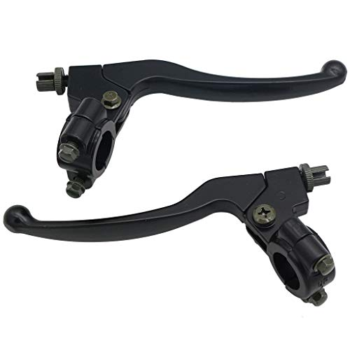 CNCMOTOK Left Right 7/8 22mm Clutch Brake Handle Levers Perch Fit Honda  XR80 XR100 CRF70 CRF80 CRF100 Pit Dirt Motor Bike Motocross