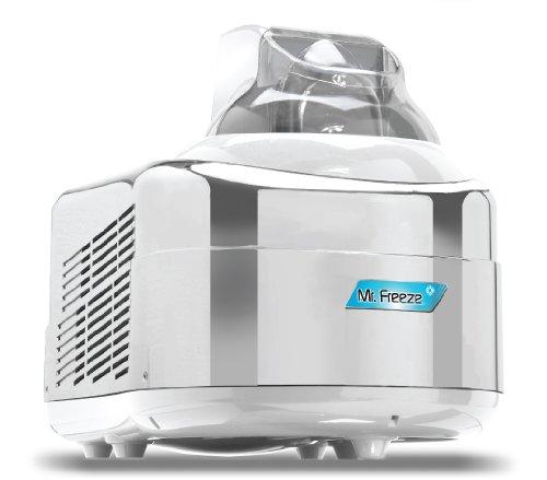Mr. Freeze EIM-550 Maxi-Matic 1.5 Quart Ice Cream Maker with Compressor, White/Chrome by Maximatic
