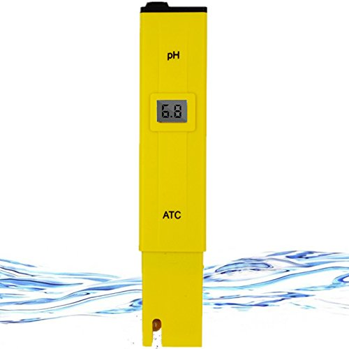 elincamp Water Quality Tester,Digital PH Meter for water quality,food,swimming pool,Aquariums, Hydroponics,PH Measurement for 0-14 PH,±0.1 Accurary,0.1 Resolution,LED Display Pocket Size (Yellow) by elincamp