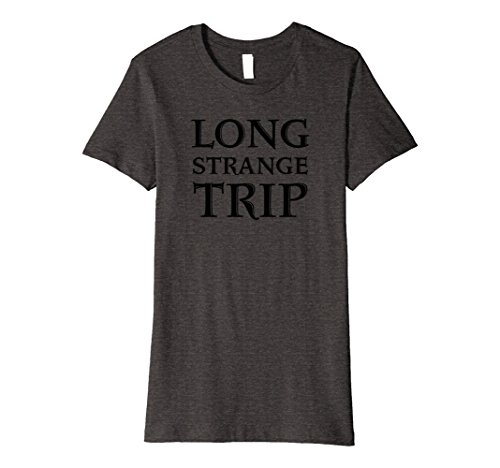 Dead Womens Dark T-shirt (Womens Grateful Dead Long Strange Trip T-Shirt Medium Dark Heather)