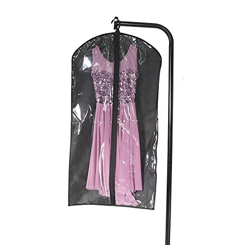 MiDee Dance Costume Garments Bag Dust Proof Zipper-Up Hanging Foldable (Top Group Costumes)