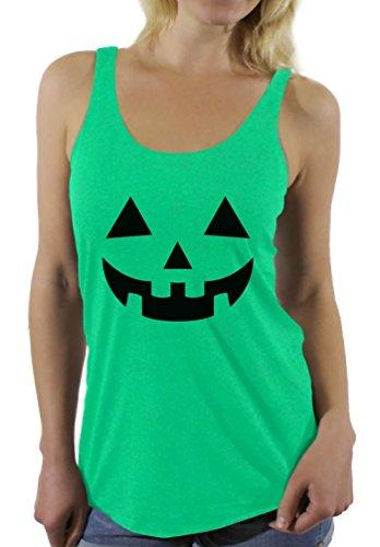 25 Super Last Minute Costumes - Awkward Styles Women's Jack O' Halloween Pumpkin Racerback Tank Tops Lantern Pumpkin Halloween Costume Envy M