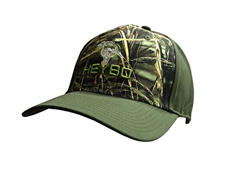 Camo Full Back Cap - Heybo Pro Duck Fullback Hat-camo/dark green