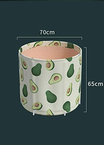 SBWFH グリーンバスタブ - 家庭用肥厚ポータブルバスタブ、折り畳み式のフリースタンディングバスタブ