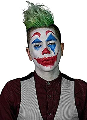 Mehron Clown Costume Makeup Kit 8 Piece All In One Halloween Cosmetics With Joker Face Paint Step By Step Instructions