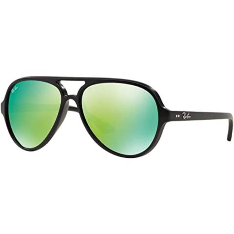 2747439956 Ray-Ban CATS 5000 RB4125-601S19 Sunglasses MATTE BLACK w GREEN FLASH 59mm